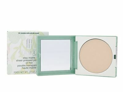 Clinique Stay-Matte Sheer Pressed Powder 7.6g 101 Invisible Matte All Skin Tones