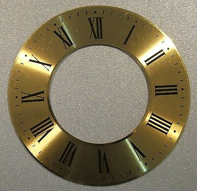 CLOCK PARTS USED - BRASS CHAPTER RING - 75mm DIAMETER -