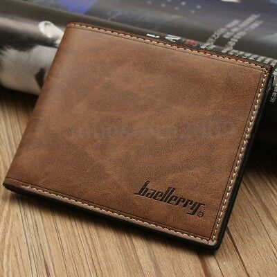 Fashion Men's Leather Wallet Credit/ID Card Holder Slim Coin Purse Pocket Gifts