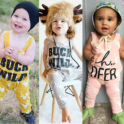 US-STOCK XMAS Newborn Baby Girls Boys Clothes Bodysuit Romper Jumpsuit Outfits