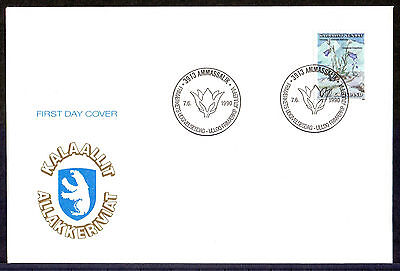 GREENLAND 1990 stamps Flowers II on 3 FDC
