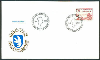 GREENLAND 1987 stamp Peter Rosing Artist Art on FDC