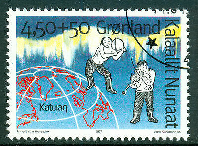 GREENLAND 1997 stamp from m/s Culture Centre fine used (CTO)