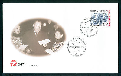 GREENLAND 1998 stamp The New Order of 1950 on FDC