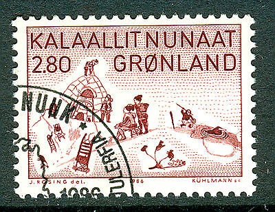GREENLAND 1986 stamp Art from Thule fine used (CTO)