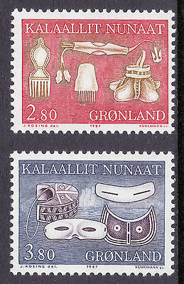 GREENLAND 1987 stamps Traditional Designs II um (NH) mint