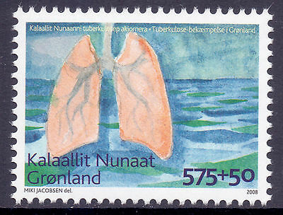 GREENLAND 2008 stamp Fight Against Tuberculosis TB um (NH) mint