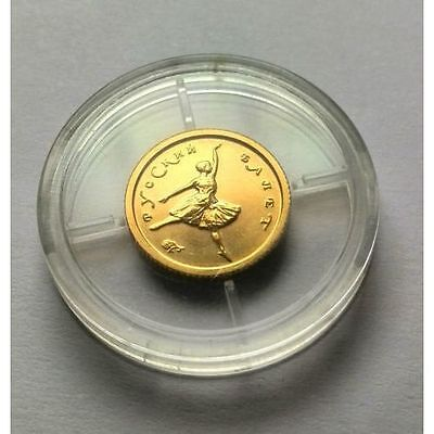 "RUSSIA 10 Rubles 1993 ""Russian Ballet"" .900 Gold 1.8g"