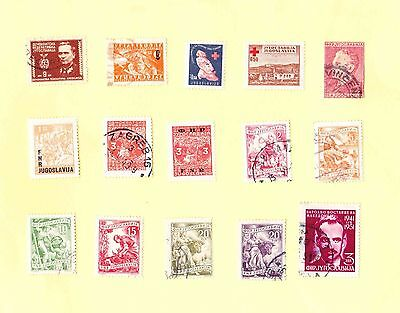 FNR YUGOSLAVIA STAMPS MIXED LOT Marshall Tito/ Patriots/ Red Cross/ Workers