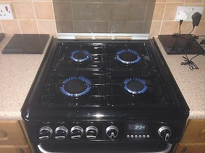 60cm Cannon Gas Cooker,Freestanding with Double Oven (G60GCIK ) in Black