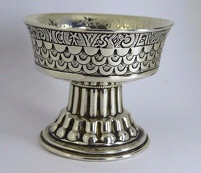 1909 Arts & Crafts Antique Silver George Nathan & Ridley Hayes Tudor Font Cup