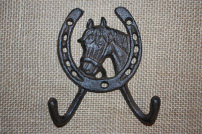(6), WESTERN DBL. WALL HOOK,horses,ranch, country decor,home decor,garden, W-5
