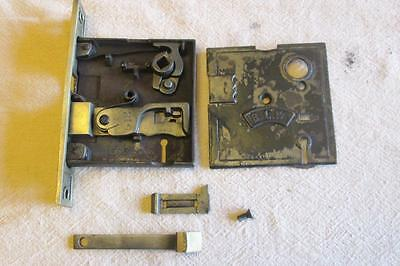 Vintage Door Skeleton Key Lock  Mortise Hardware    Parts    B.L.W