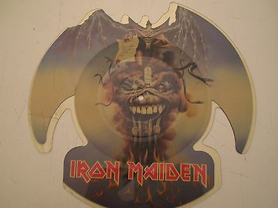 """IRON MAIDEN The Evil That Men Do 7""""45 giri UK 1988 Shaped Picture Disc"""
