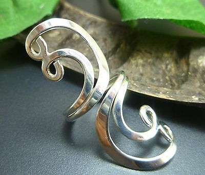 Taxco Mexico Mexican 925 Sterling Silver Big Ring 5 5.5 6 Modern