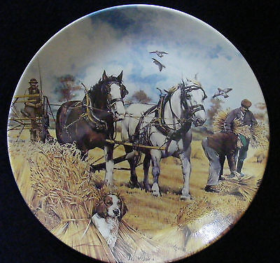 """Danbury Mint Working Horses 8"""" Plate: The Harvesters by M Greensmith - See Photo"""