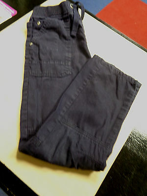 Tu Boy's Navy Blue Cargo Elasticated Waist Trousers Size 9 Years
