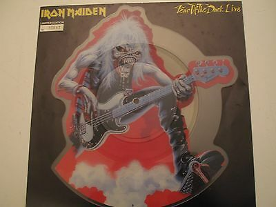 """IRON MAIDEN Fear of the Dark Live 7"""" 45 giri UK 1992 SHAPED PICTURE DISC Rare!!!"""