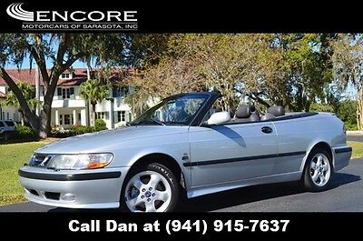 2001 Saab 9-3 2dr Convertible SE Automatic w/Black Top arasota FL Car 2001 Saab 93 Convertible SE Clean Florida Car with Low Mileage