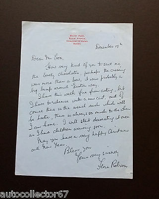 Genuine FLORA ROBSON signed AUTOGRAPH LETTER actress