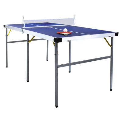 Charles Bentley Childrens 1/2 Folding Table Tennis Table 5Ft Equipment Included
