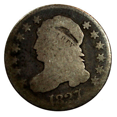 1827 10C Capped Bust Silver Dime