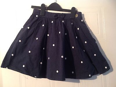 Jasper Conran Girls Navy and White Polka Dot Skirt - Age 12 Years