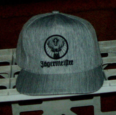 Gray Snapback Jagermeister Embroidered  Logo NWT Very Limited Cap Hat