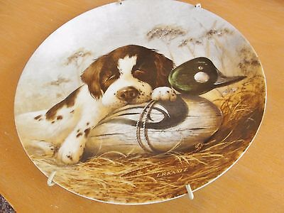 "1987 Knowles ""dog-Tired"" Decorative Plate By Lynn Kaatz  #7129A"