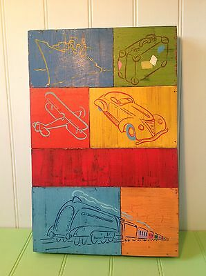 Original Painting On Wood of Travel By Well Known Artist By Andy Bridge