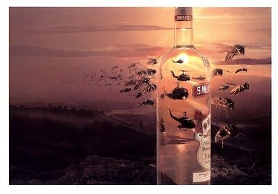 Mexican Funny Smirnoff Vodka Postcard Bee Swarm Military Huey Helicopters Mexico
