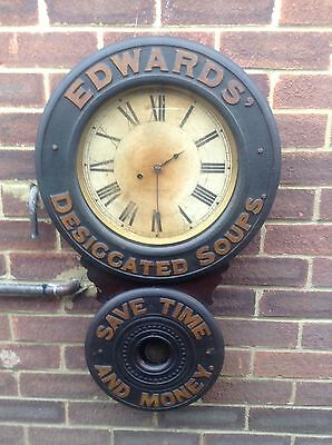 Rare Antique Baird Advertising Clock c1885 Edwards Desiccated Soups.