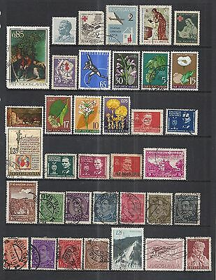 Yugoslavia Outstanding Collection - 140 Different Stamps - 4 Pages!