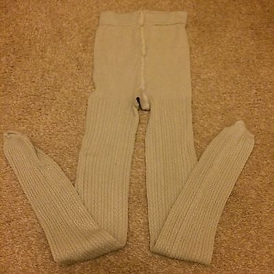 Cream Knitted Tights Size Small Bnwot