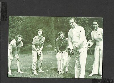 Nostalgia P/C J.B Priestley in an Actress v Authors Charity  Cricket Match 1938