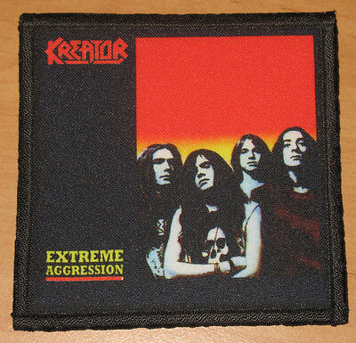 """KREATOR """"EXTREME AGGRESSION"""" silk screen PATCH"""