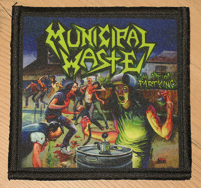 """MUNICIPAL WASTE """"THE ART OF PARTYING"""" silk screen PATCH"""