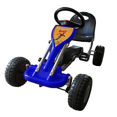 #sNEW BLUE PEDAL GO-KART RIDE-ON CAR KIDS