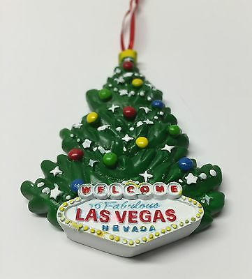 Las Vegas Sign Christmas Tree Holiday Hanging Ornament Green