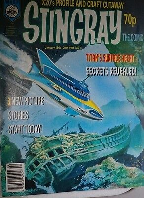 Stingray - The Comic. No 8 .January 16th - 29th 1993. ITC.