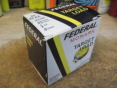 FEDERAL MONARK TARGET LOAD EMPTY PAPER shot shell box 20 gauge SHOTGUN ORIGINAL