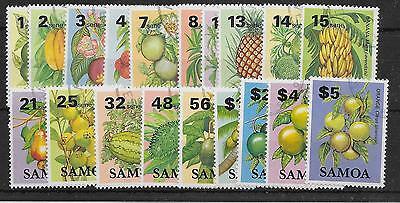 Samoa Sg647/65 1983 Fruits Definitive Set Used