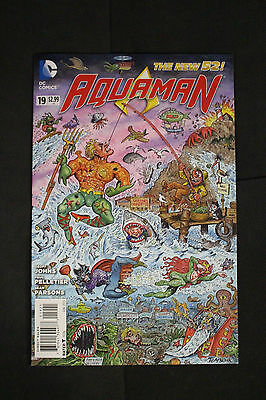 Aquaman #19 MAD Magazine Alfred E. Neuman Variant Edition Cover Tom Bunk 2013