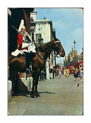 Mounted Life Guards - Sentry Duty Horse Guards London Brigade Of Guards Postcard