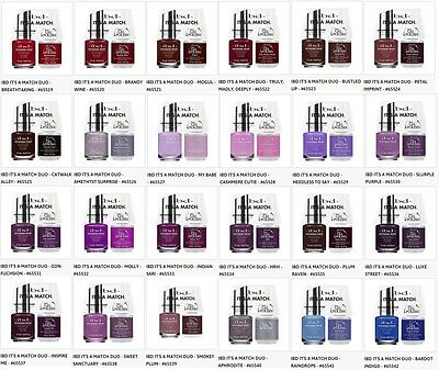 IBD Nail Just Gel Polish It's A Match Duo Variations 65519 to 65542 .5oz/14mL