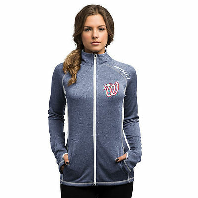 Ladies Majestic New Washington Nationals MLB Apparel Therma Base Jacket Size M