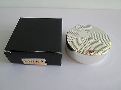 *wow* Genuine Links Of London Silver Plated Trinket Box & Lid Star Pattern New