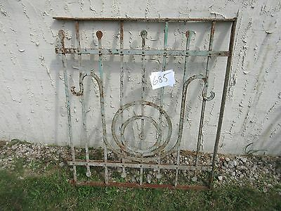 Antique Victorian Iron Gate Window Garden Fence Architectural Salvage Door #685
