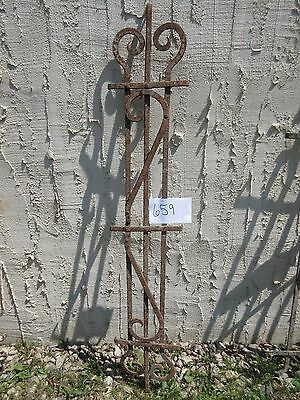 Antique Victorian Iron Gate Window Garden Fence Architectural Salvage Door #659