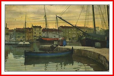 Nenke & Ostermier Harbour View Boats And Ships Photochromie Postcard Posted 1921